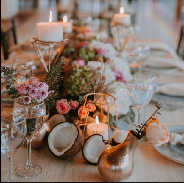 Arreglos florales para mesas de matrimonios