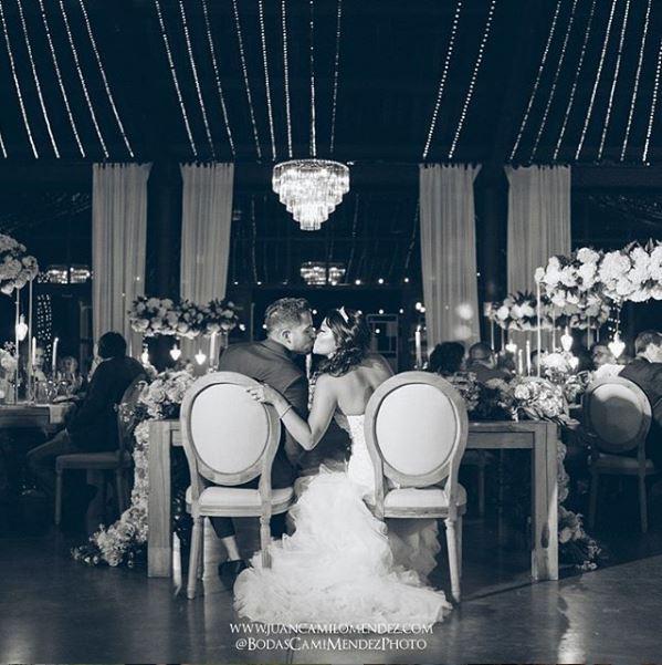 Recién casados el día de su boda