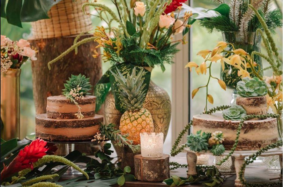 Repostería y arreglos florales para eventos